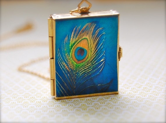 The Incredible Four-Way Book Locket - Vintage - 14K Gold-Filled Chain