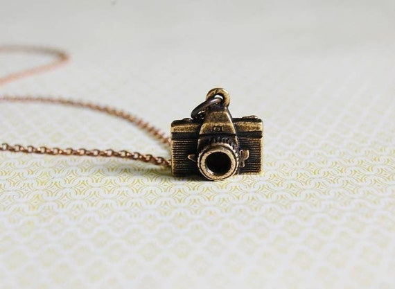 Gold Camera Charm Photographer Necklace