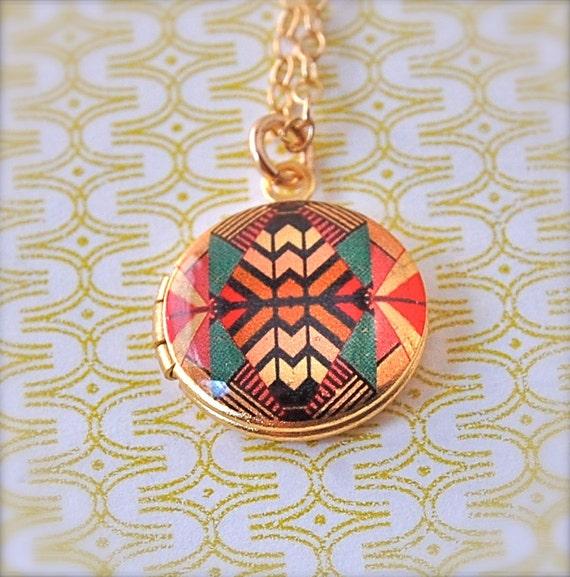 Mini Locket Kaleidoscope - Vintage - Gold