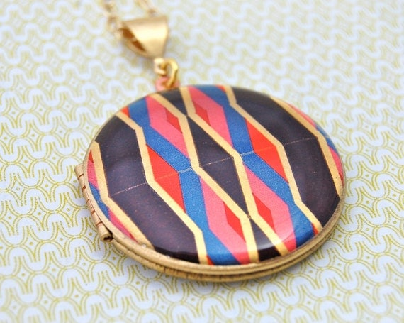 The Geometric Locket - Vintage