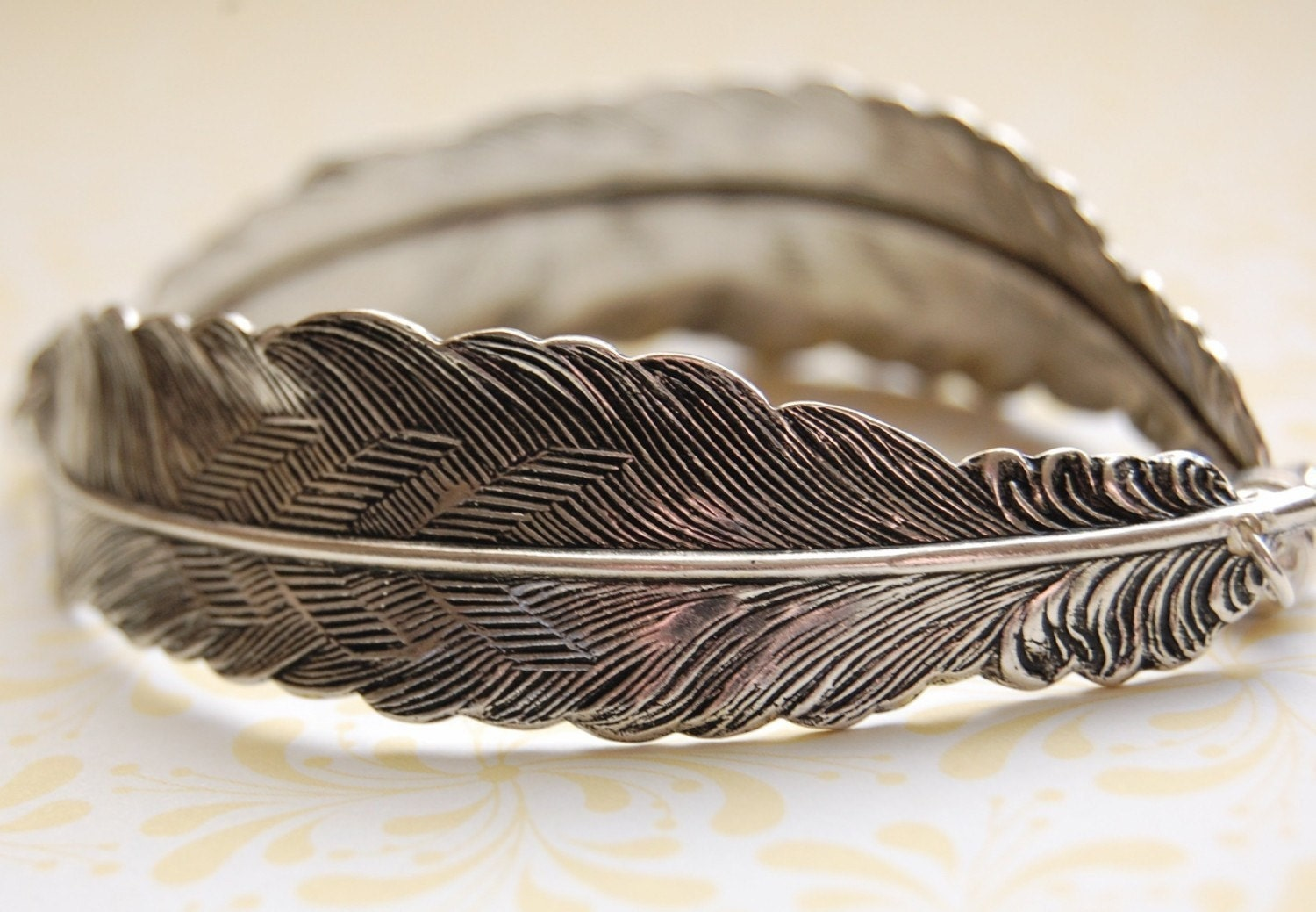 the feather bracelet sterling silver