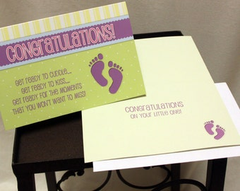 Baby Gift Congratulations Greeting Cards