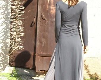 Wrap dress maxi length dress -Long sleeve dress- Tibetan dress-Womens maxi dress -winter dress-fall dress-wrap dress -custom dress