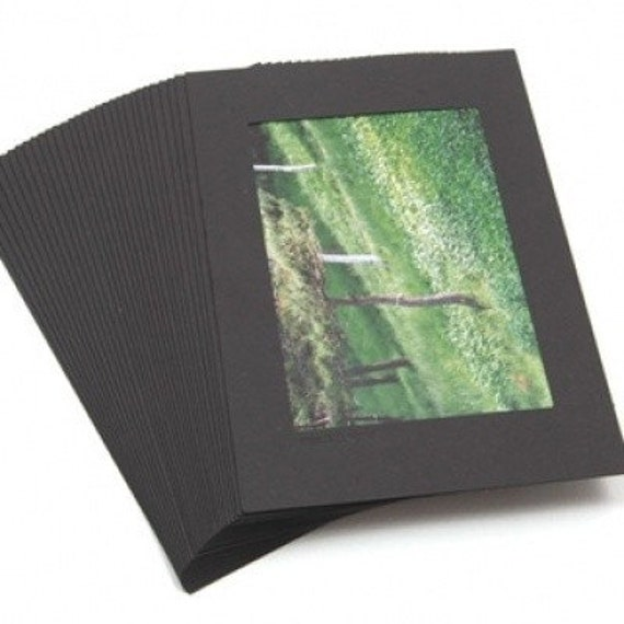 Simple Black Paper Photo Frame Package (30EA)