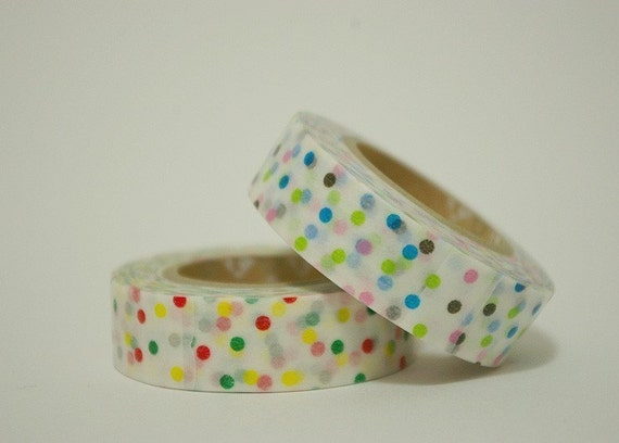 Masking Tape - Pastel Colored Polka Dots (2 EA)