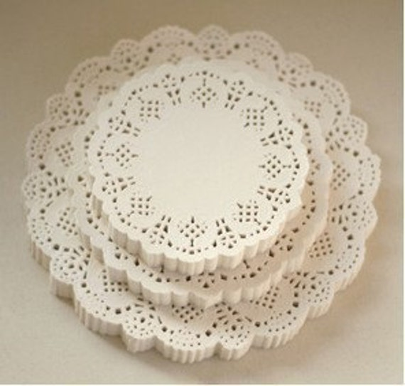 Reserved for Maureen, Set of White Lace Round Paper Doilies (200 EA)