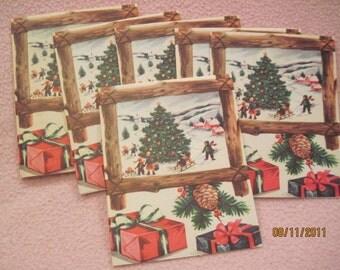 Vintage Albanian Christmas Cards New Unused lot of 5