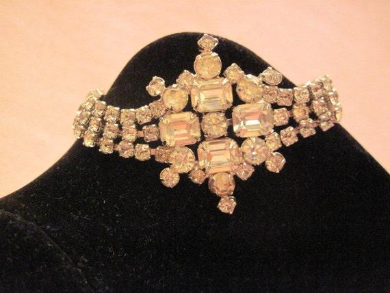 Reserved for Deborah Equisite Rhinestone Bracelet and Necklace