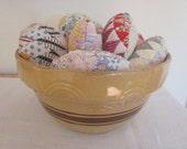 Handmade Antique Quilt Easter Eggs for Home Decor