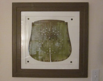 """Architectural Salvage Framed and Matted Art """"Take a Seat"""""""