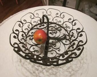 Vintage 50's Latin Senorita Wireware Basket or Centerpiece Bowl