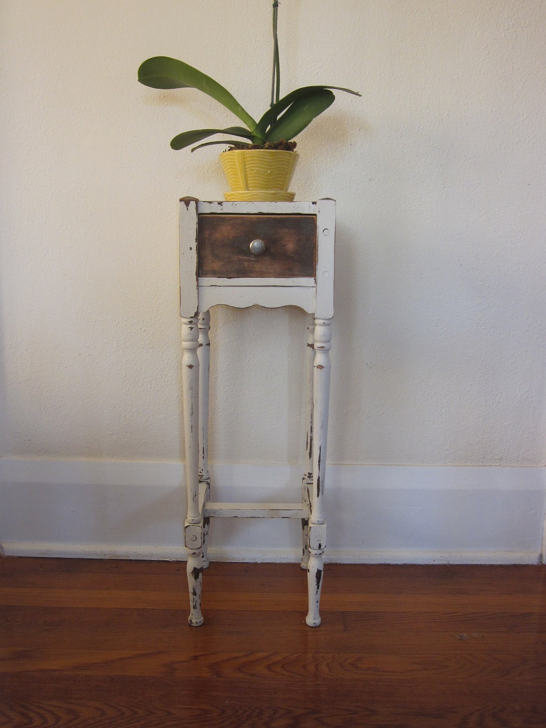 Antique Shabby Chic Smoking Stand Or Table Cushman Attributed