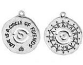 4 Pewter Coin  Love is a circle of Friends Charms. Sale! Purchase any 10 charms and receive 2 free!