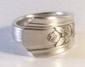 Silver Ware Rings Handcrafted from Antique Silver Ware - size 9.5