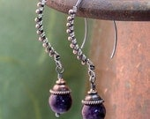 bohemian sugalite earrings