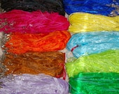 """100 - Organza ribbon waxed cotton cord necklace 18"""" plus 2"""" extension - 20 colors"""