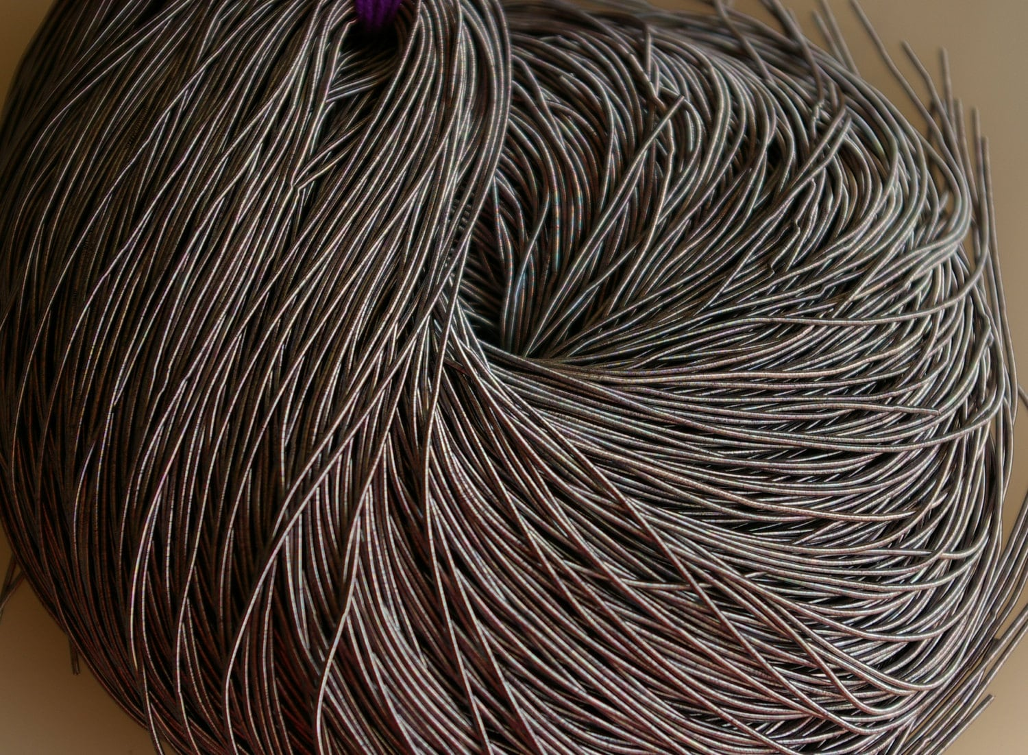 Gray Coil Wire : Gray french coil wire bullion thread inches for