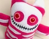 Pink Skeleton Bonez Monster plush toy doll