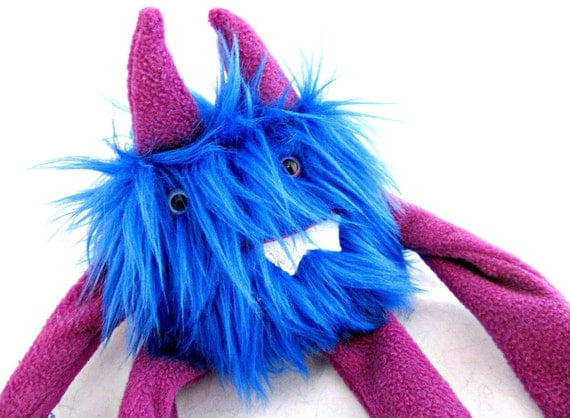 Plush Monster Mini handmade one of a kind stuffed doll