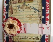 Make a wihs handmade card