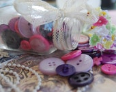 Purple and Pink  Vintage Buttons