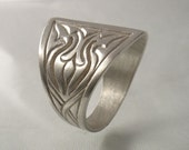 Celtic Engraved Silver Ring