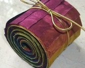 Hand Dyed Cotton Quilt Fabric Jelly Roll, DESERT, 30 Strips 2-1/2 inch x 22