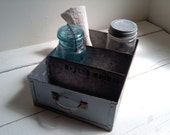 Vintage Metal Galvanized Drawer/ Industrial Shop Tray