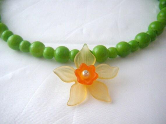 Daffodil Memory Wire Jewelry Set