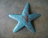 Starfish  Beach Tropical  Coastal Metal Art Sculpture Art