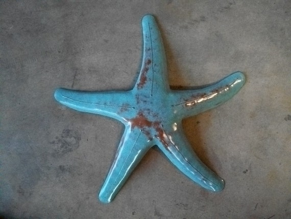 Starfish Metal Sculpture 20 x 20in Beach Coastal Tropical Art
