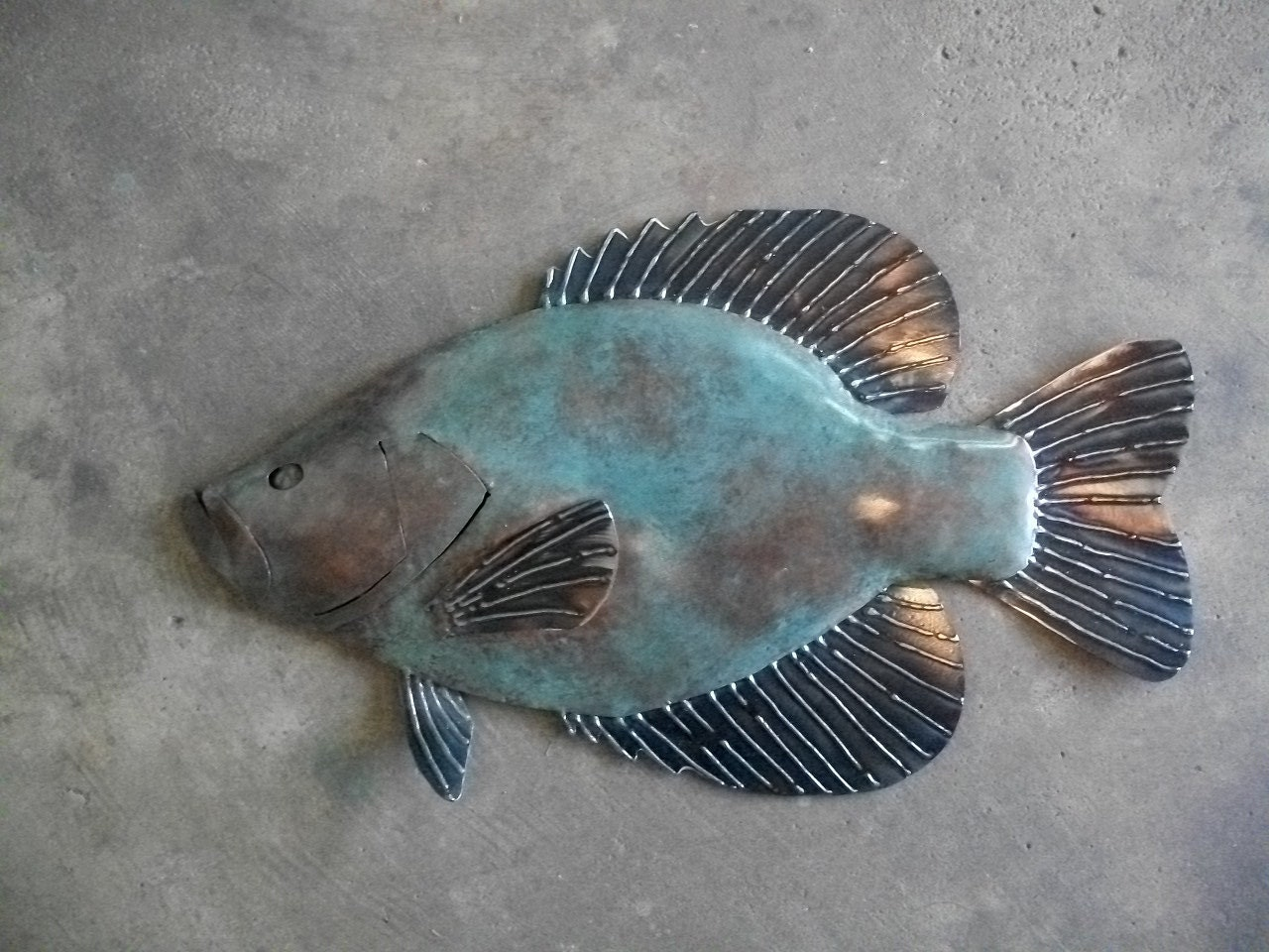 crappie metal fish 20in wall art sculpture lake cabin