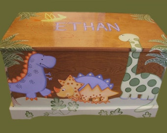 Dinosaur Toy Chest Custom Designed
