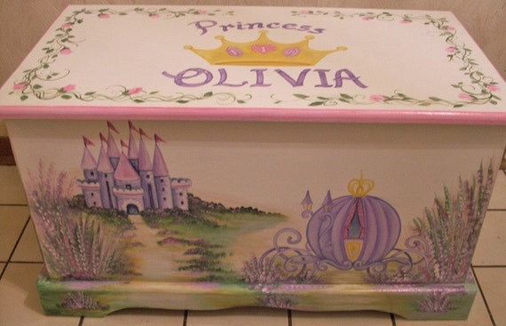 Custom CINDERELLA  CARRIAGE Toy Chest