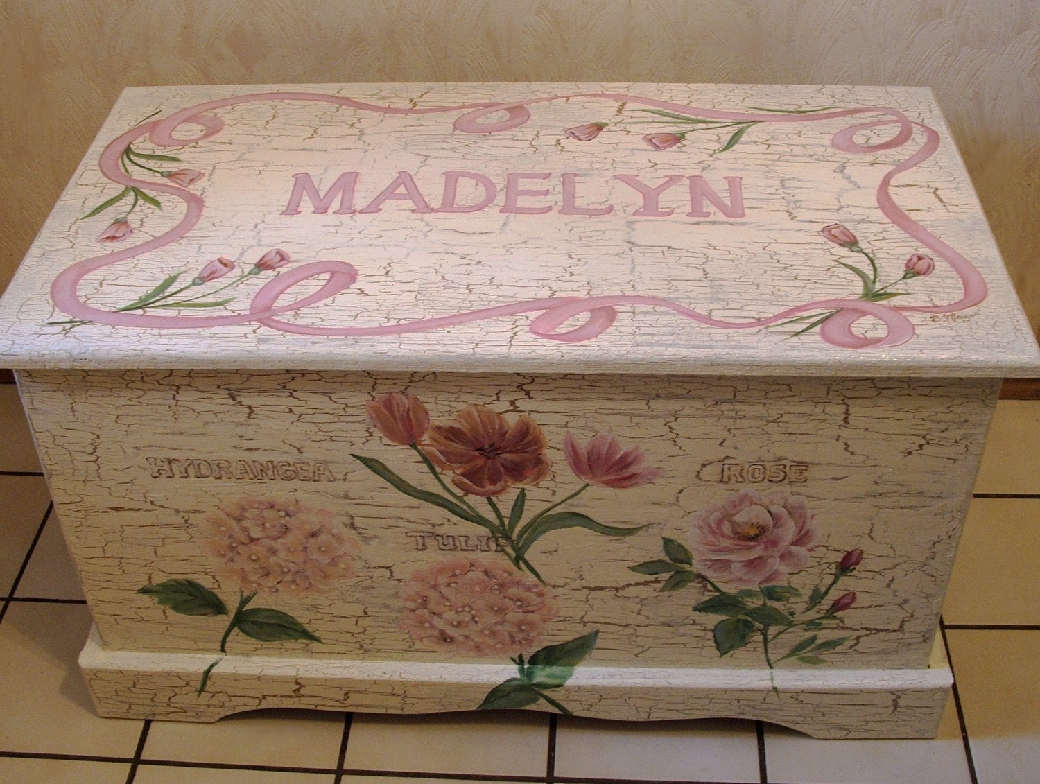 custom designed shabby chic toy chest chest done with. Black Bedroom Furniture Sets. Home Design Ideas