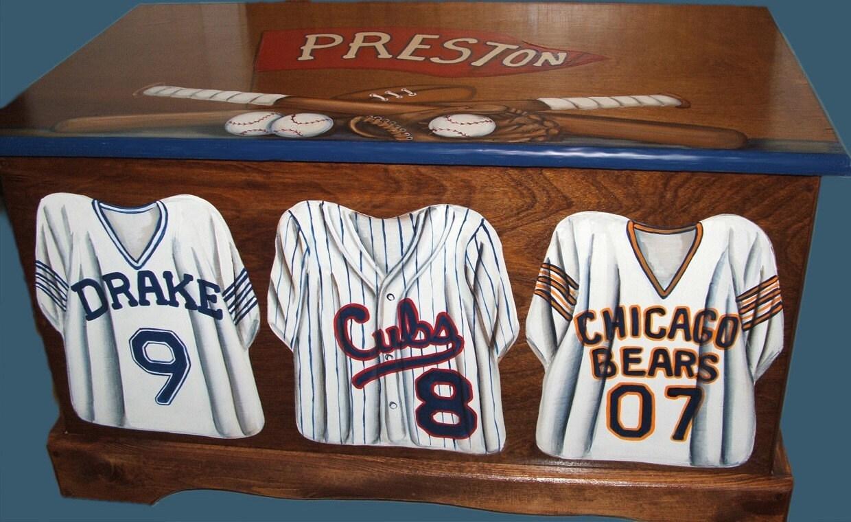 Toy Box Junior Varsity Custom Sports Jerseys Wooden Hand Made
