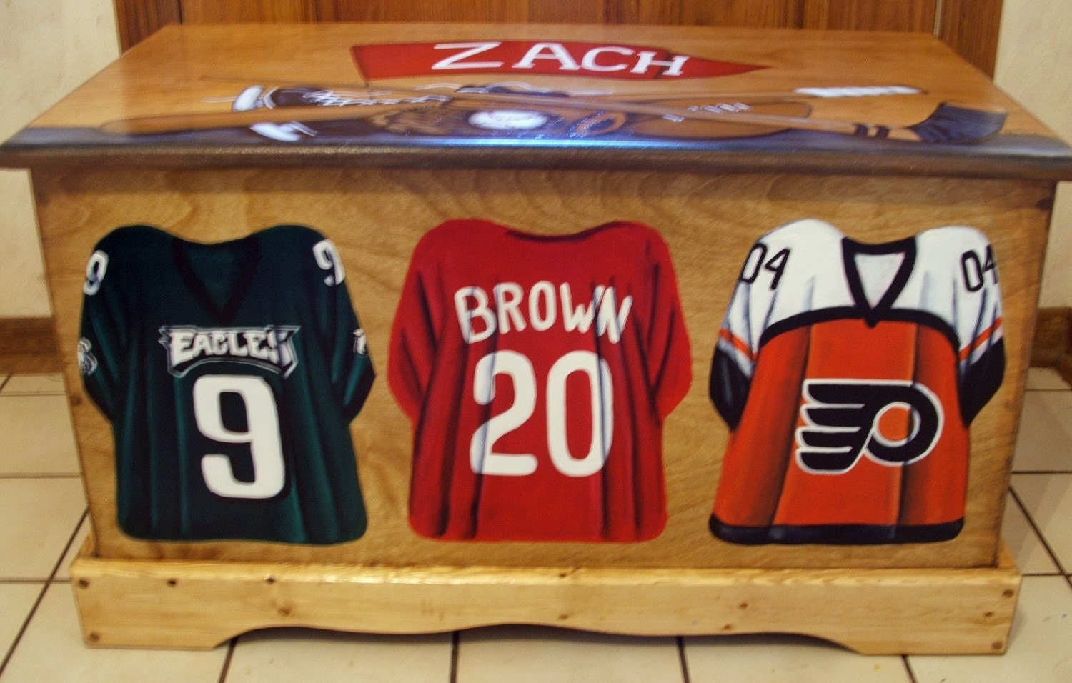 Sports Team Toy Box with Custom Jerseys, Designed with your sport ...