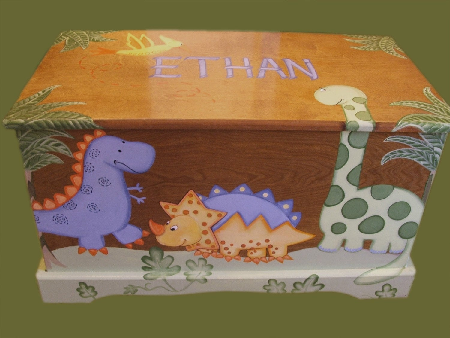 Dinosaur Toy Chest Custom Designed by originalsbybarbmazur on Etsy