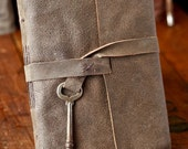 Rustic Skeleton Key Leather Journal