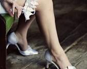 SALE-Winter Wedding- Snow Flake Garter