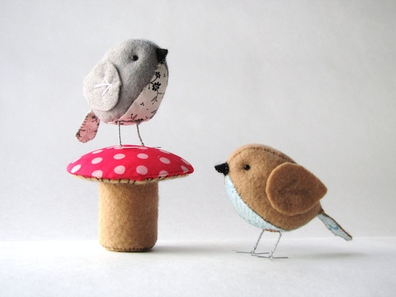 The Fat Sparrow & Terrific Toadstool PDF pattern set of 2