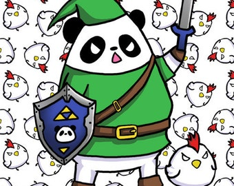 The Legend of Panda - Panda Link and Cuckoo 8x10 Print
