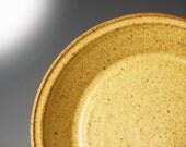 Handmade Pottery Pie Plate in Yellow Salt