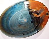 Pottery Pie Plate in Joe's Blues