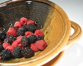 Pottery Berry bowl in Mocha Swirl for Summer berries