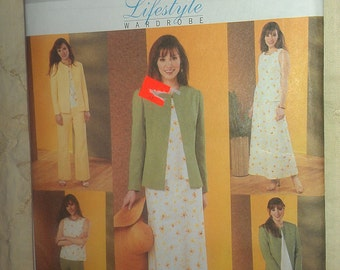 Wardrobe Components Dress Jacket Top Skirt Pants Sizes 20 22 24 Butterick 3900