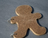 Handmade Gingerbread Man or Paper Dolls Wooden Blank Book Or Banner