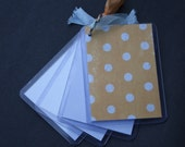 Acrylc Brag Book - Blue Polka Dots
