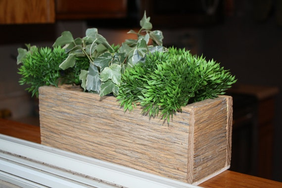 Reclaimed and Recycled Barn Wood Square 10 inch Deep Barn Wood Window Box