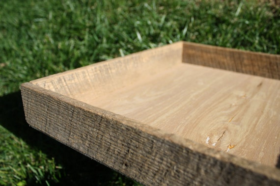 Reclaimed and Recycled Barn Wood Large Square 16x16x2 Barn Wood Tray or Planter
